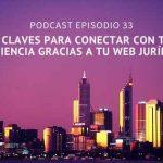 Podcast- Episodio 33 – 6 claves para conectar mejor con tu cliente gracias a tu web jurídica