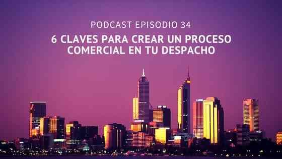 Podcast-Episodio 34 – 6 claves para montar un proceso comercial en tu despacho de abogados